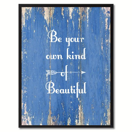 Be Your Own Kind Of Beautiful Motivation Quote Saying Canvas Print Picture Frame Home Decor Wall Art Gift Ideas - Owl Photo