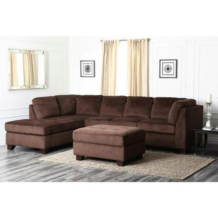 Fabulous Abbyson Living Delano Sectional Sofa And Storage Ottoman Set Creativecarmelina Interior Chair Design Creativecarmelinacom