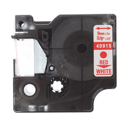 Dymo 40915 Label Maker Tape Red/White 3/8