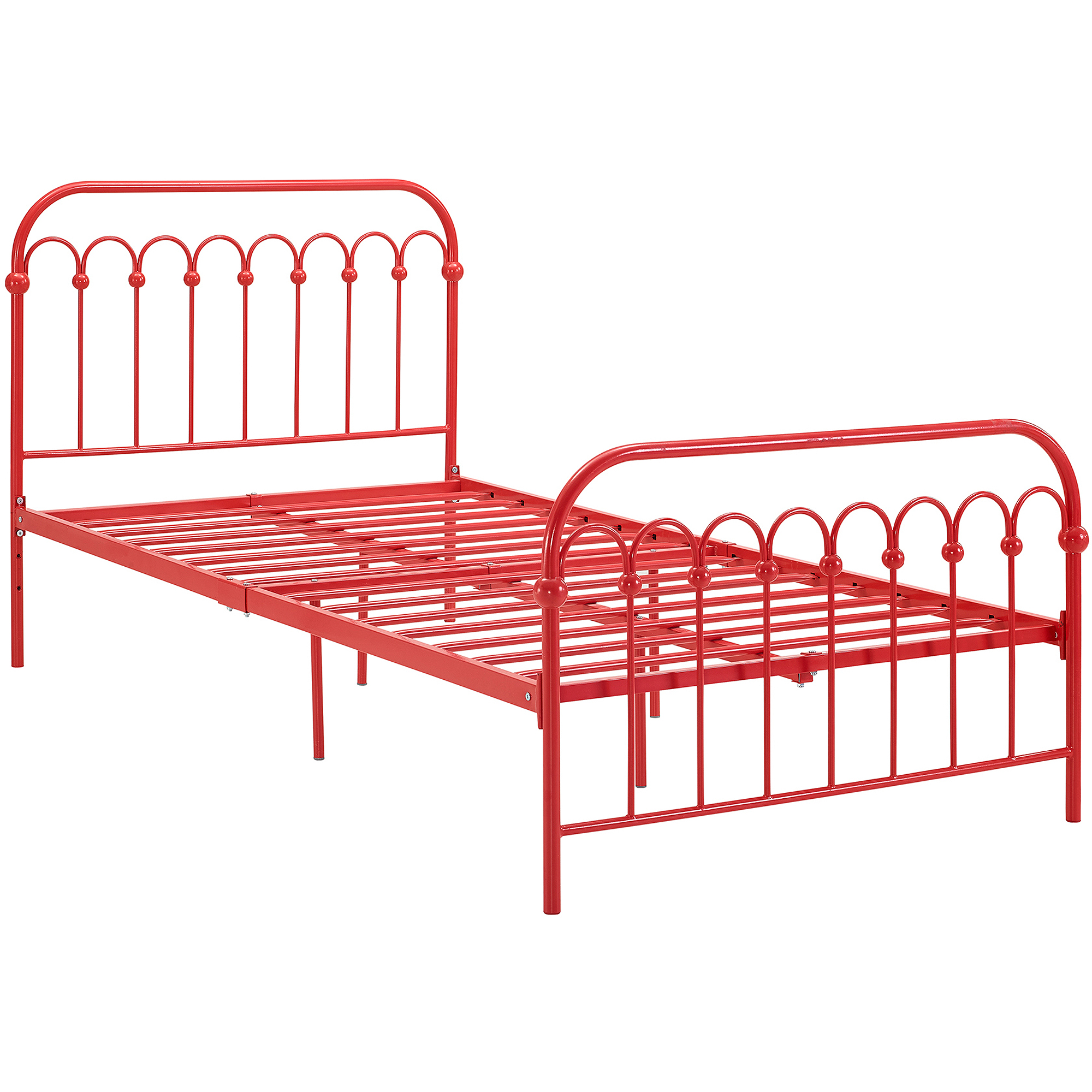 Twin metal bed frame with wheels - 9 By Novogratz Bright Pop Twin Metal Bed Multiple Colors Walmart Com
