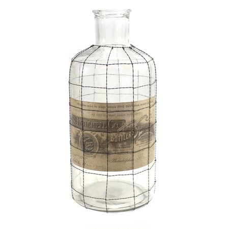 Halloween GLASS BOTTLE WIRE MESH CAGE LG Twitchell Bottler Supplies 13442Lg - Bike Rivals Halloween