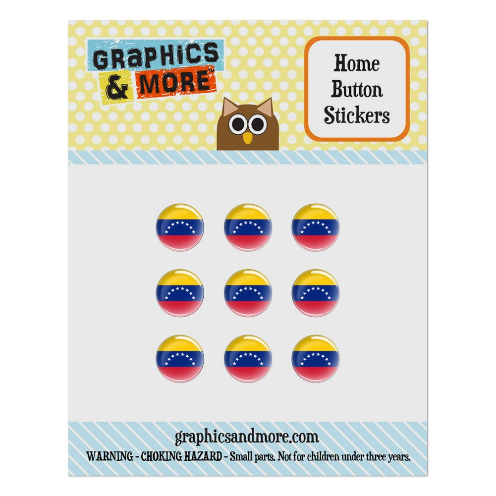 Venezuela National Country Flag Home Button Stickers Set Fit Apple iPhone iPad iPod Touch