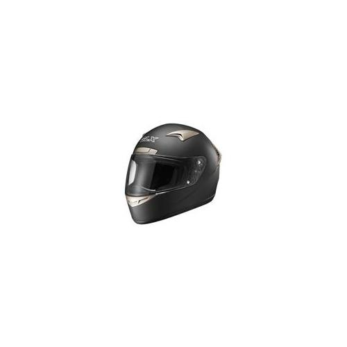 GLX 335-MB-M DOT Full Face Motorcycle Helmet, Matte Black, Medium