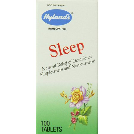 - Hyland's Sleep Relief Tablets, Natural Relief of Occasional Sleeplessness and Nervousness, 100 Count - 100 Tablets
