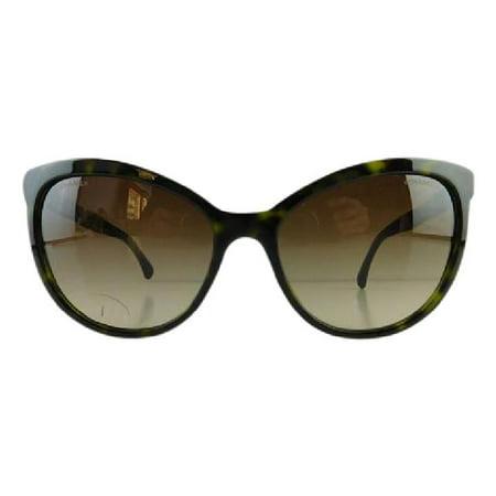 Gently Used Chanel 5307-B 714/S5 Tortoise Rhinestone Plastic Sunglasses 59mm ()