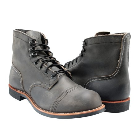 (Red Wing Heritage 8086 Iron Ranger 6-Inch Cap Toe Charcoal Men's Boots 08086)