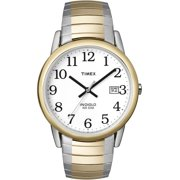 Timex Men's Easy Reader Date 33mm Two-Tone Stainless Steel Expansion Band Watch