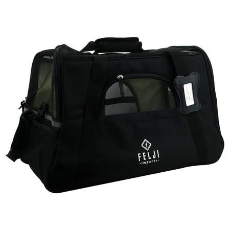 Pet Carriers Bags (Felji Pet Carrier Cat Dog Airline Approved Fleece Bag Large)