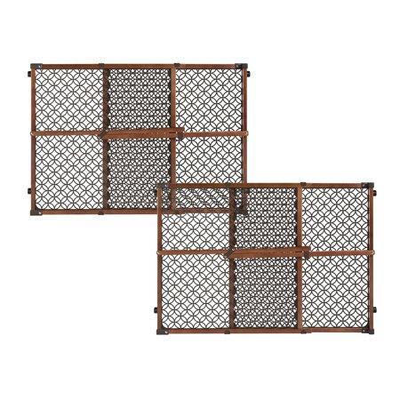 Summer Infant Secure Pressure Mount Wood And Plastic Deco Gate Set