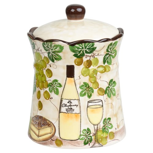 Click here to buy Lorren Home Trends Grape Ceramic 2.35 qt. Cookie Jar by Overstock.