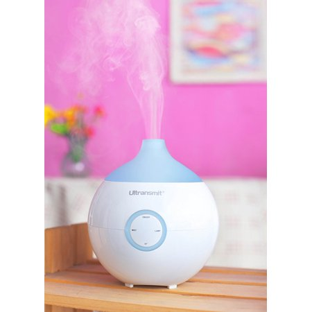 Relaxus Ultrasonic Aromatherapy Essential Oils Diffuser, Multi-Coloured LED lights, Capacity 60ml, Coverage: up to 300 sq ft, up to 5hr run time, Continuous or Intermediate Misting, High, Low, - Multicoloured Led