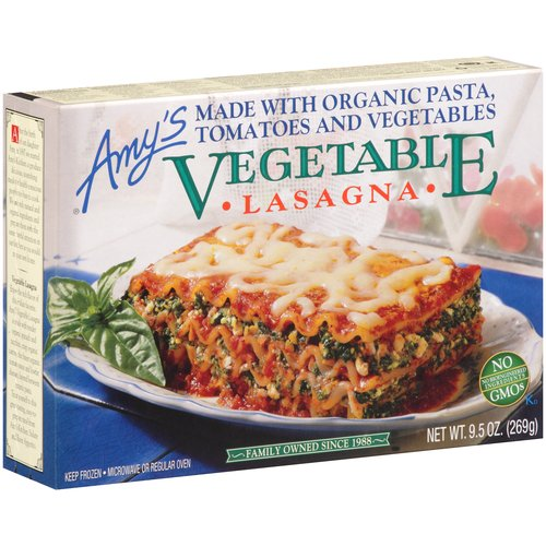 Amy's Vegetable Lasagna, 9.5 oz