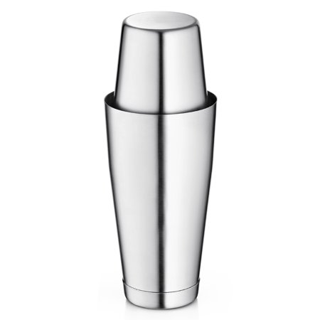 ShopoKus Bartender Boston Cocktail Shaker Set - Silver - Includes 28oz & 18oz Cocktail Shaker Food Grade Stainless Steel Bar Shaker Set, Built with Heavy Weighted Shaker Tins For a