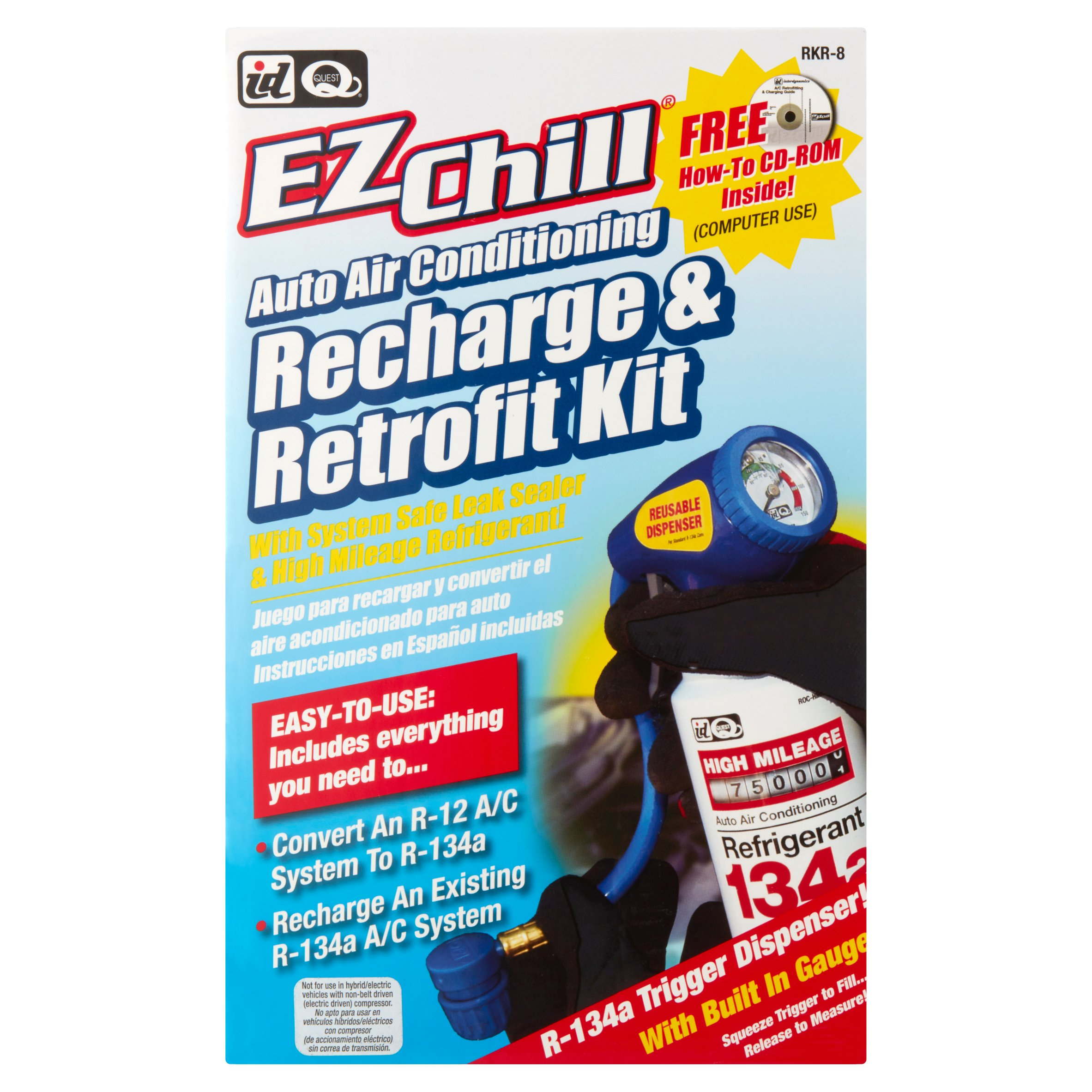 ID Quest EZChill Auto Air Conditioning Recharge & Retrofit Kit ...