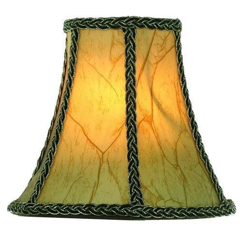 Aged European Parchment 8 Inch Empire Clip On Chandelier Lampshade