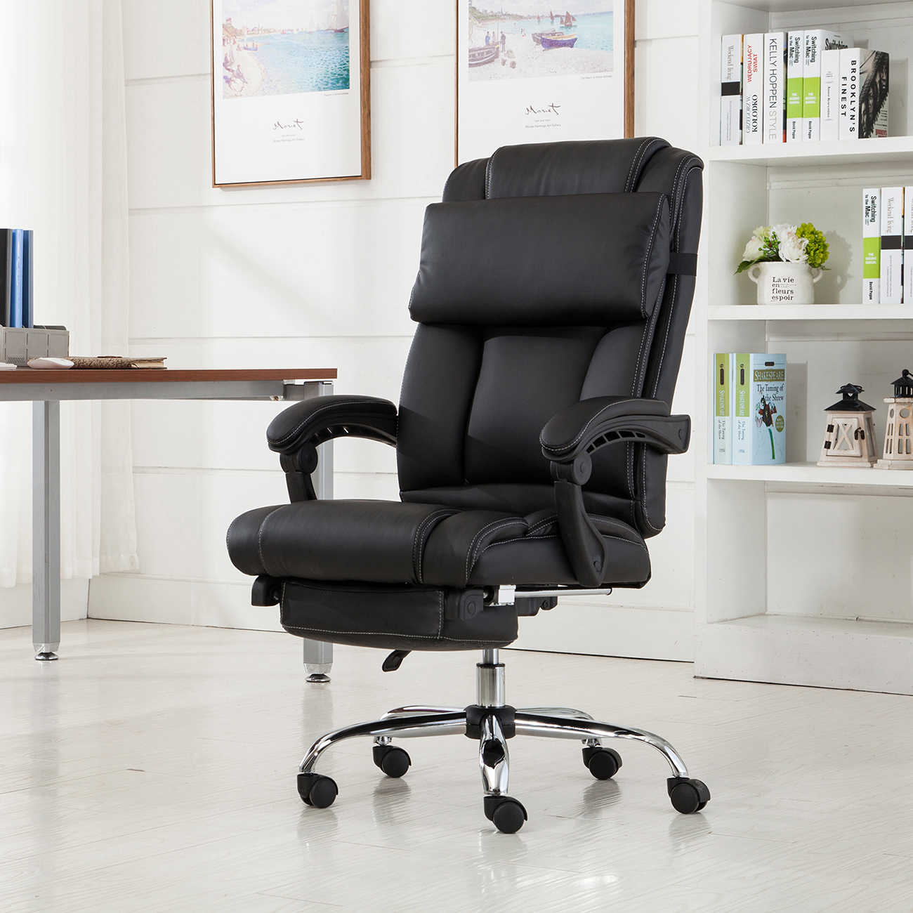Belleze Executive Reclining Office Chair High Back Faux