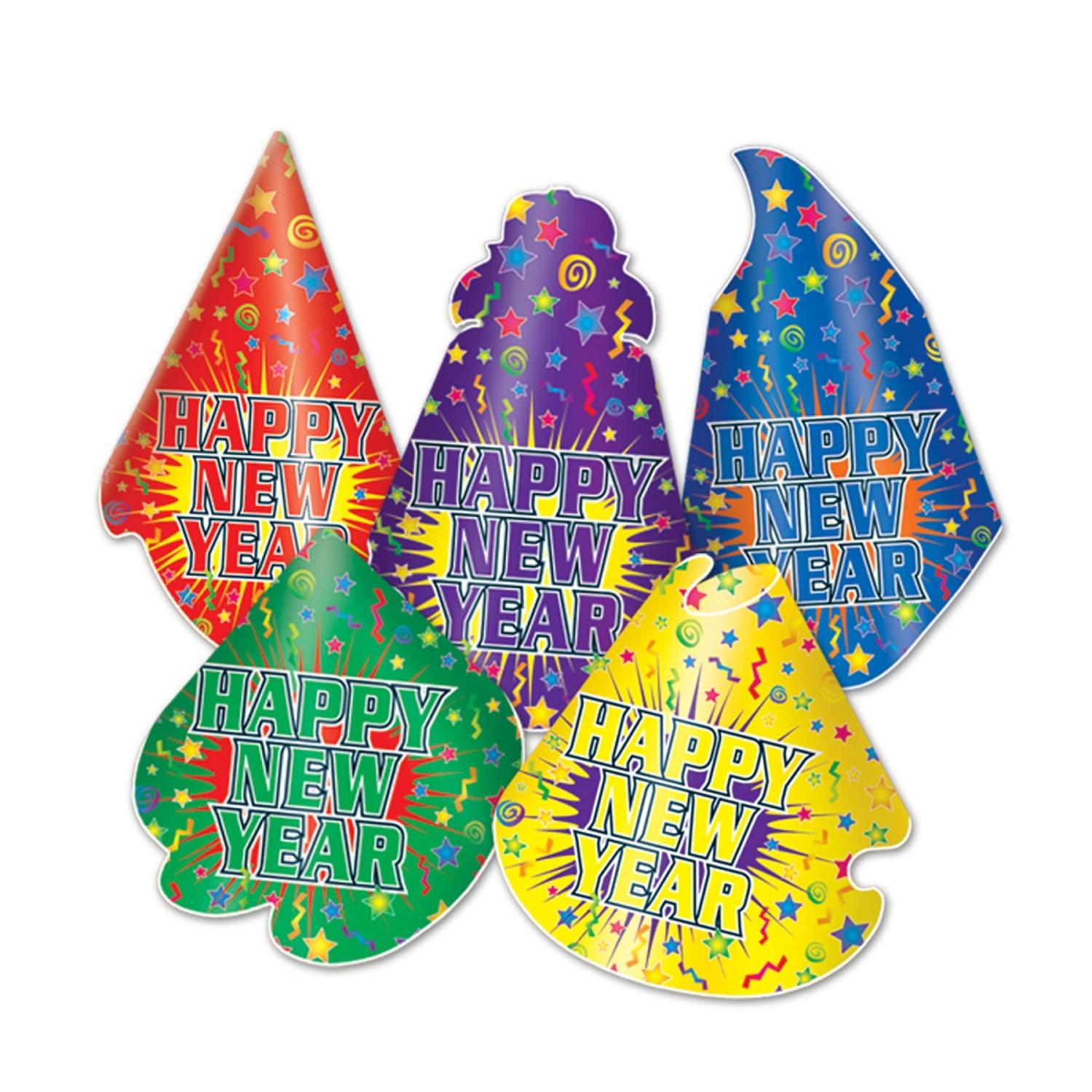 """Club Pack of 50 Jamboree """"Happy New Years"""" Legacy Party Favor Hats"""