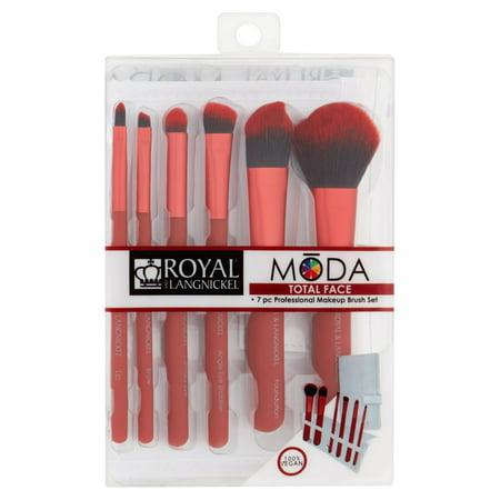 Royal and Langnickel Moda Total Face Professional Makeup Brush Set, 7
