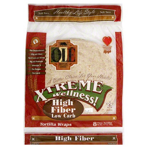 Ole Mexican Xtreme Wellness High Fiber Low Carb (6 Pack, 48 Tortillas Total)