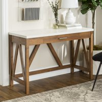 Manor Park Rustic Farmhouse Computer Writing Desk with Drawer