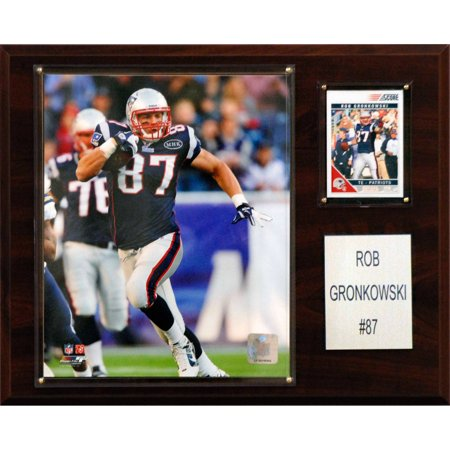 C Collectables Nfl 12X15 Rob Gronkowski New England Patriots Player Plaque