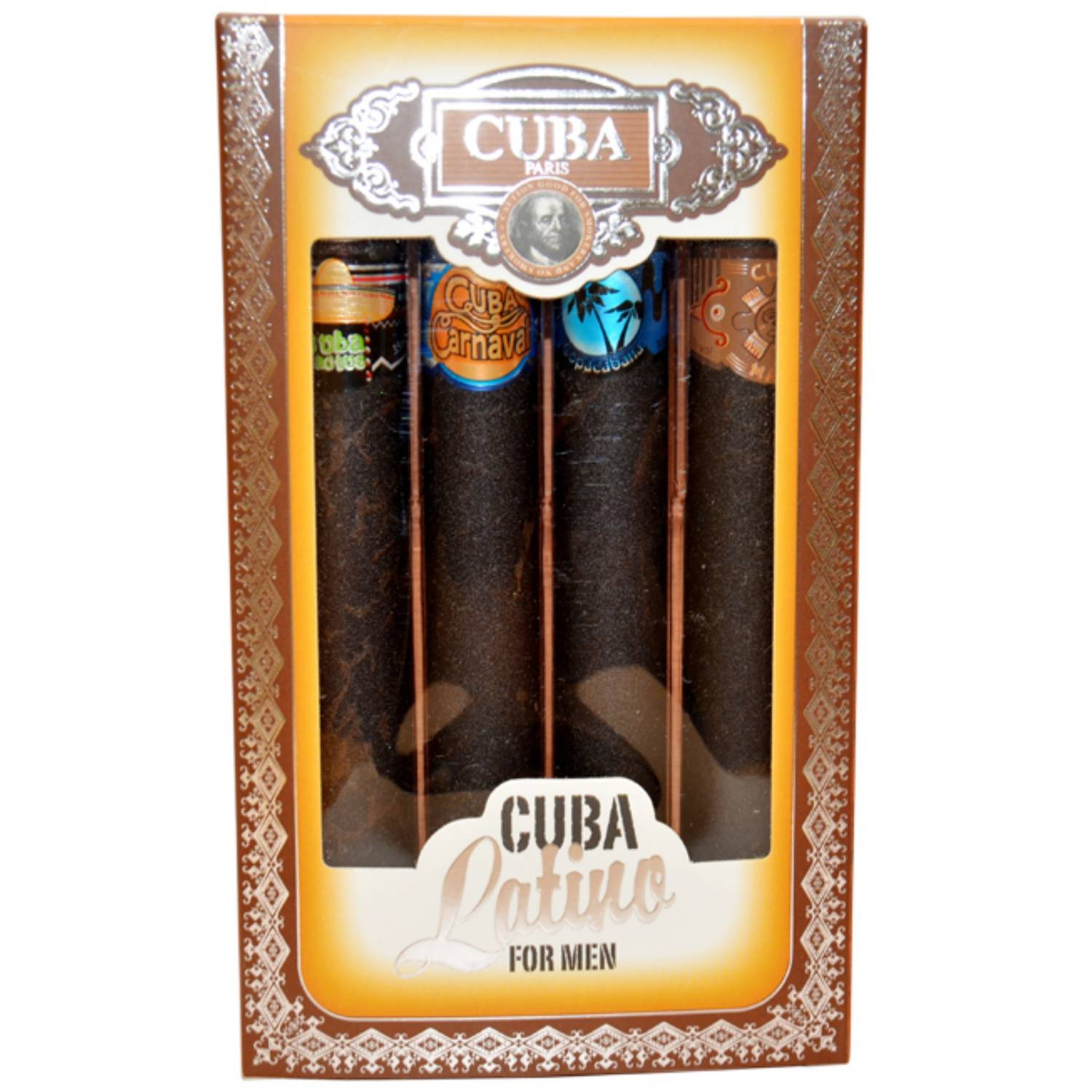 Cuba Latino Collection for Men Mini Fragrance Gift Set, 4 pc