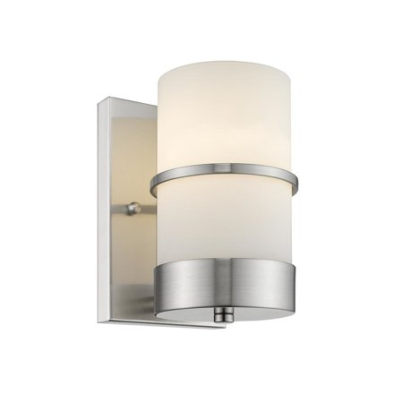 - CHLOE Lighting PENELOPE Contemporary 1 Light Brushed Nickel Indoor Wall Sconce 4