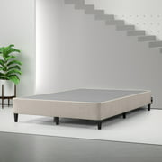 """Spa Sensations by Zinus 9"""" Standing Metal Smart Box Spring in Gray and Brown, Twin"""