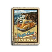 Artehouse LLC Woody at the Beach Vintage Advertisement Plaque