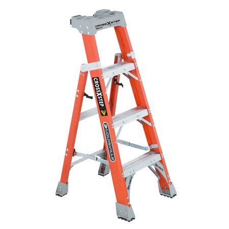 Louisville Ladder FXS1504 4 ft. Fiberglass Cross-Step Ladder, Type IA, 300 Lbs Load Capacity