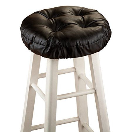 (Collections Etc Padded Barstool Seat Cover Cushion)