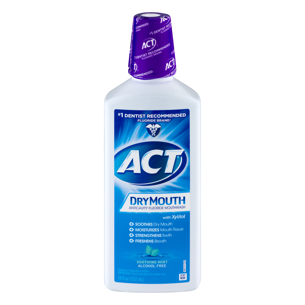 Act Mouthwash Dry Mouth >> ACT Total Care Dry Mouth Anticavity Soothing Mint Fluoride Mouthwash, 18oz - Walmart.com