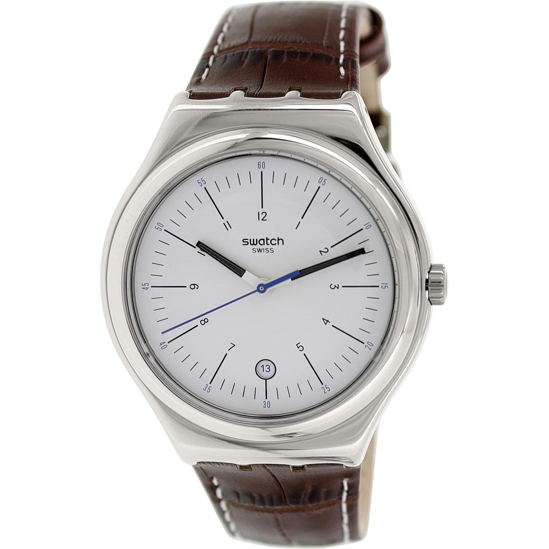 Swatch Men's Irony YWS401 Brown Leather Leather Swiss Qua...