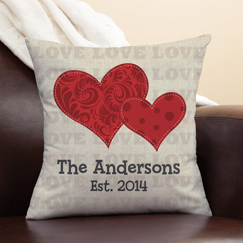 Personalized Heart of Love Pillow