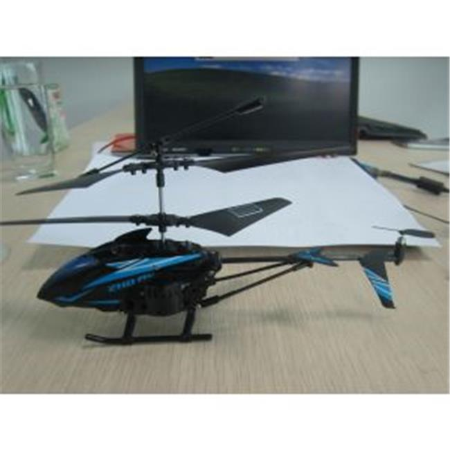 Microgear EC10401-Blue Remote Control RC Metal Gyro 3.5 Channel Helicopter