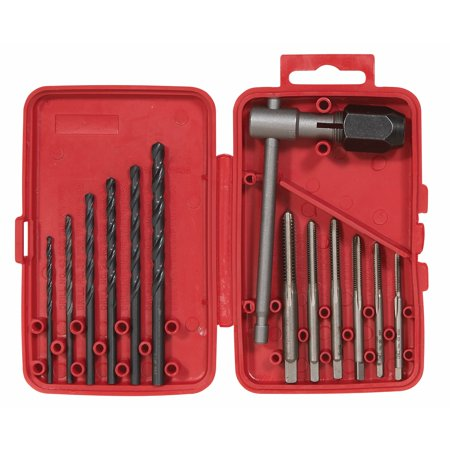 Vermont American 21698 Electrician Drill and Tap Set, 13 Pcs