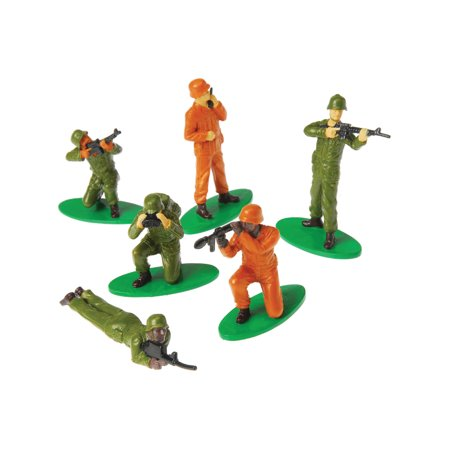Military Soldiers People Miniatures Set Diorama Recreation 12 Pack Toys (Hat Toy Soldiers)