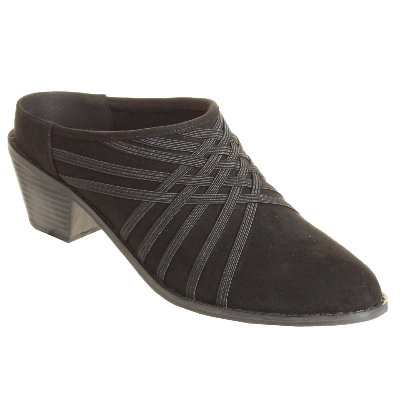 Zee Alexis Womens Melissa Clog Shoes Black 10 M