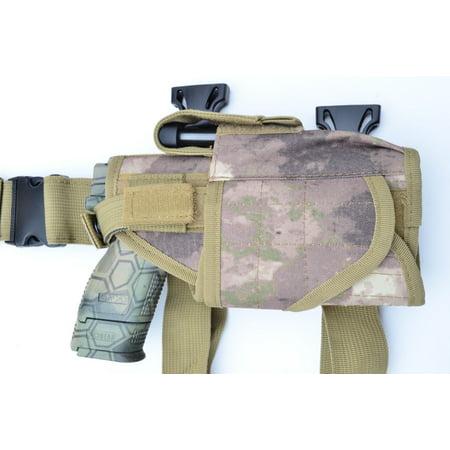 Tactical Leg Thigh Gun Pistol Holster or Open Carry Belt Holster ATACS AU Camo