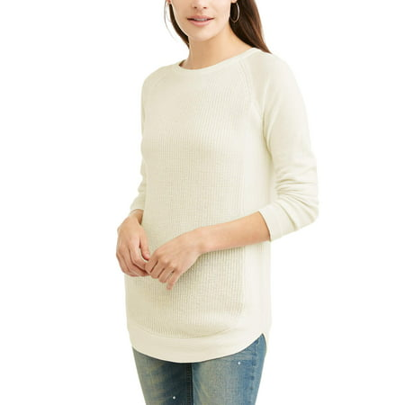 Cotton Clothing Hand Knit Sweaters - Women's Boatneck Knit Sweater