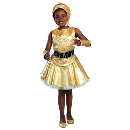 3po Costume (Girls Classic Star Wars C-3Po Dress)