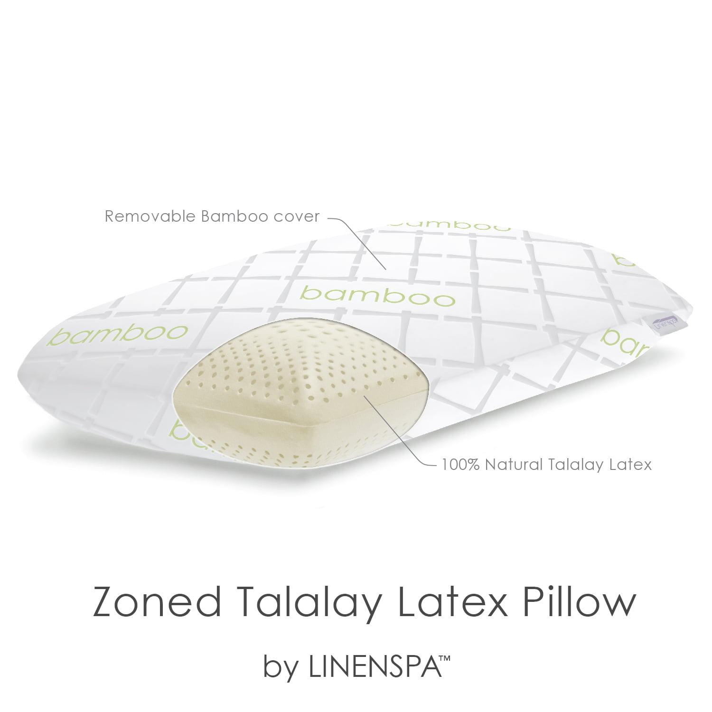 linenspa talalay latex ventillated zoned pillow king low plush walmartcom - Talalay Latex
