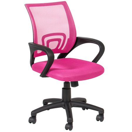 Tremendous Best Choice Products Ergonomic Rolling Swivel Chair For Office Computer Desk W Mesh Nylon Back Padded Seat Pink Beatyapartments Chair Design Images Beatyapartmentscom