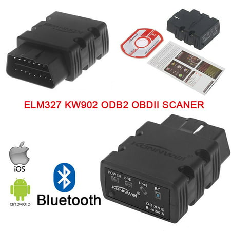 OBD 2 Bluetooth Adaptor elm327,OBD 2 Scanner,OBDII Code Reader Diagnostic Scan Tool for for iPhone,iPad &