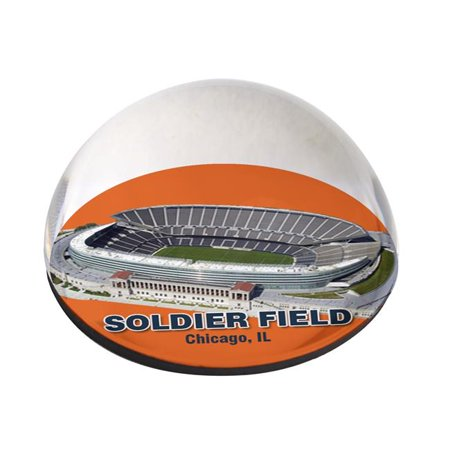Nfl Desk (IKE & ZELDA SOLDIERDAPPW80 NFL Soldeir Fiedl design on 3 in. Half Moon Hand-Crafted in USA Crystal Paper)