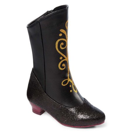 Disney Frozen Princess Anna Costume (Disney Frozen Princess Anna Black and Gold Costume Boots)
