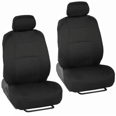 BDK PolyCloth Car Seat Covers, 2-Tone Split Bench EasyWrap Full Set (Cheap Seat Covers For Cars)