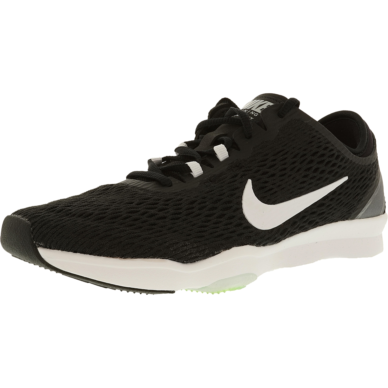Nike Women's Zoom Fit Black/White/Volt Ankle-High Mesh Cross Trainer Shoe - 10.5M