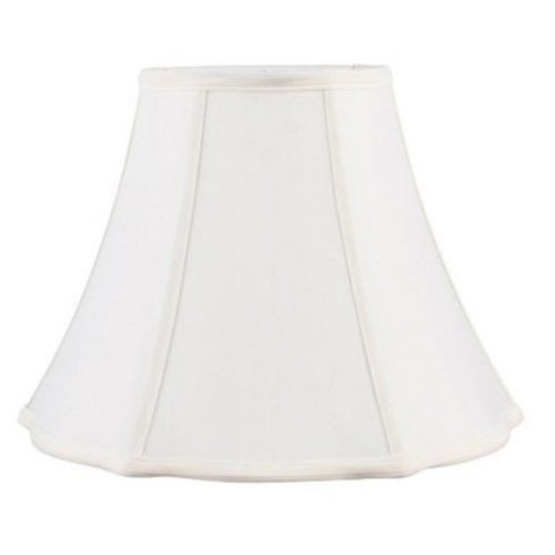 Livex S525 Bell Star Shantung Silk Lamp Shade in White