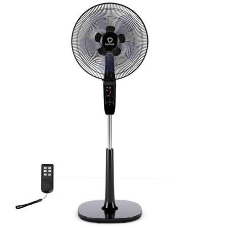 16'' Oscillating Pedestal Fan 2 Mode Adjustable Remote Control 2 Blades - image 10 of 10